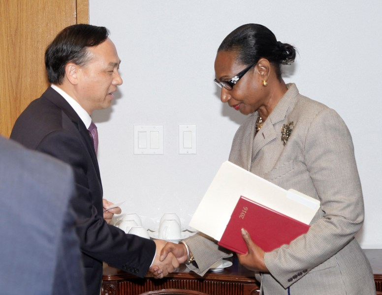 Acting Minister of Foreign Affairs&Chinese Ambassador May 24, 2016. .  038041