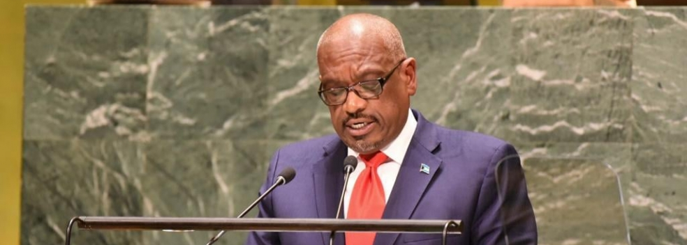 PRIME MINISTER MINNIS ADDRESSES UN GENERAL ASSEMBLY; URGES WORLD LEADERS TO ADDRESS GLOBAL CLIMATE EMERGENCY