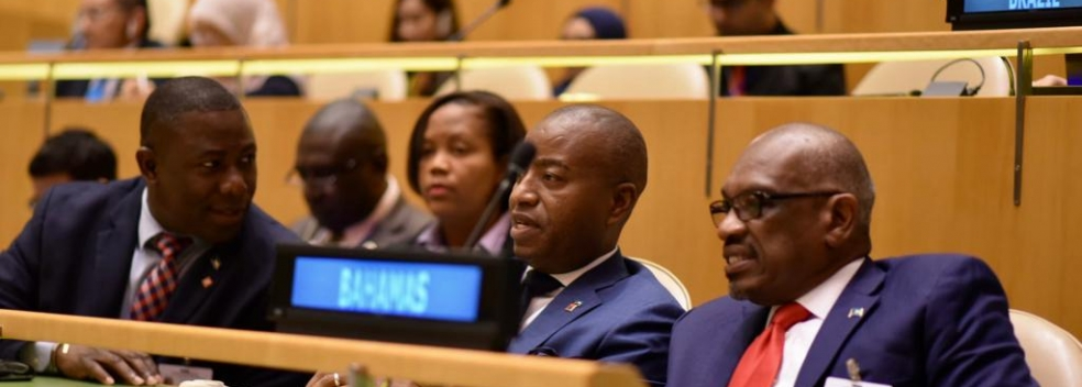 Prime Minister The Most Hon. Hubert A. Minnis and delegation attends the 74th Session of the United Nations General Assembly and Related Meetings. Photos: Yontalay Bowe