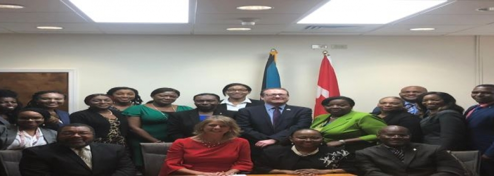 Her Excellency Laurie Peter Ambassador if Canada to The Bahamas met with Director-General Mrs.Sharon Brennen-Haylock and Division Heads